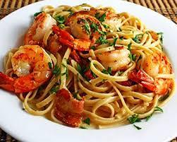 Σπαγγέτι με γαρίδες στο φούρνο