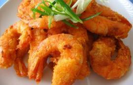 Γαρίδες με ντιπ λεμονιού-τζίντζερ