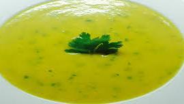 Σούπα με φρέσκο κόλιαντρο