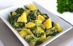 Ζεστή σαλάτα με αντίδια και πατάτα