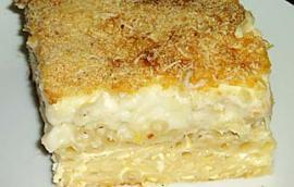 Μακαρόνια παστίτσιο με τυρί φέτα