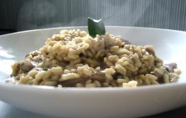 Ριζότο με μοσχαράκι, μανιτάρια και δεντρολίβανο